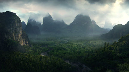 Forbidden Valley matte painting