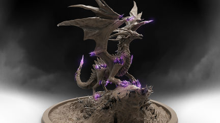 Criostail the dragon - clay render