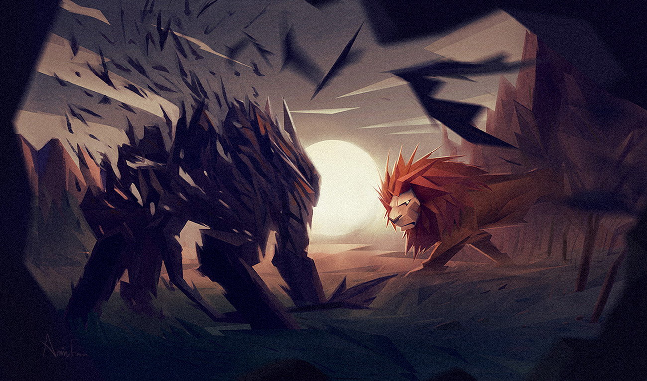 Aminfara lion fight 1 d55d96e4 x9vr