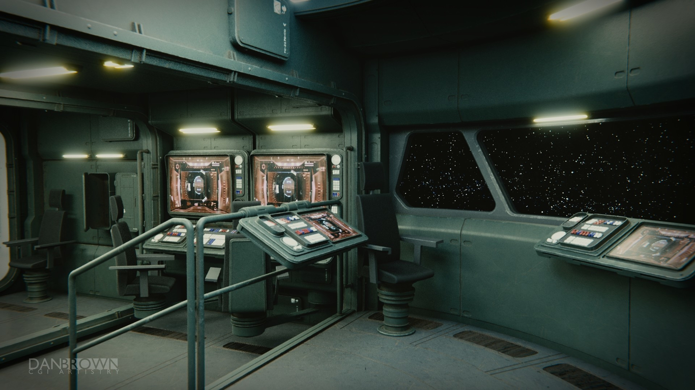 Terms Of Service >> Small Spaceship Command Center by danbrowncgi   Sci-Fi