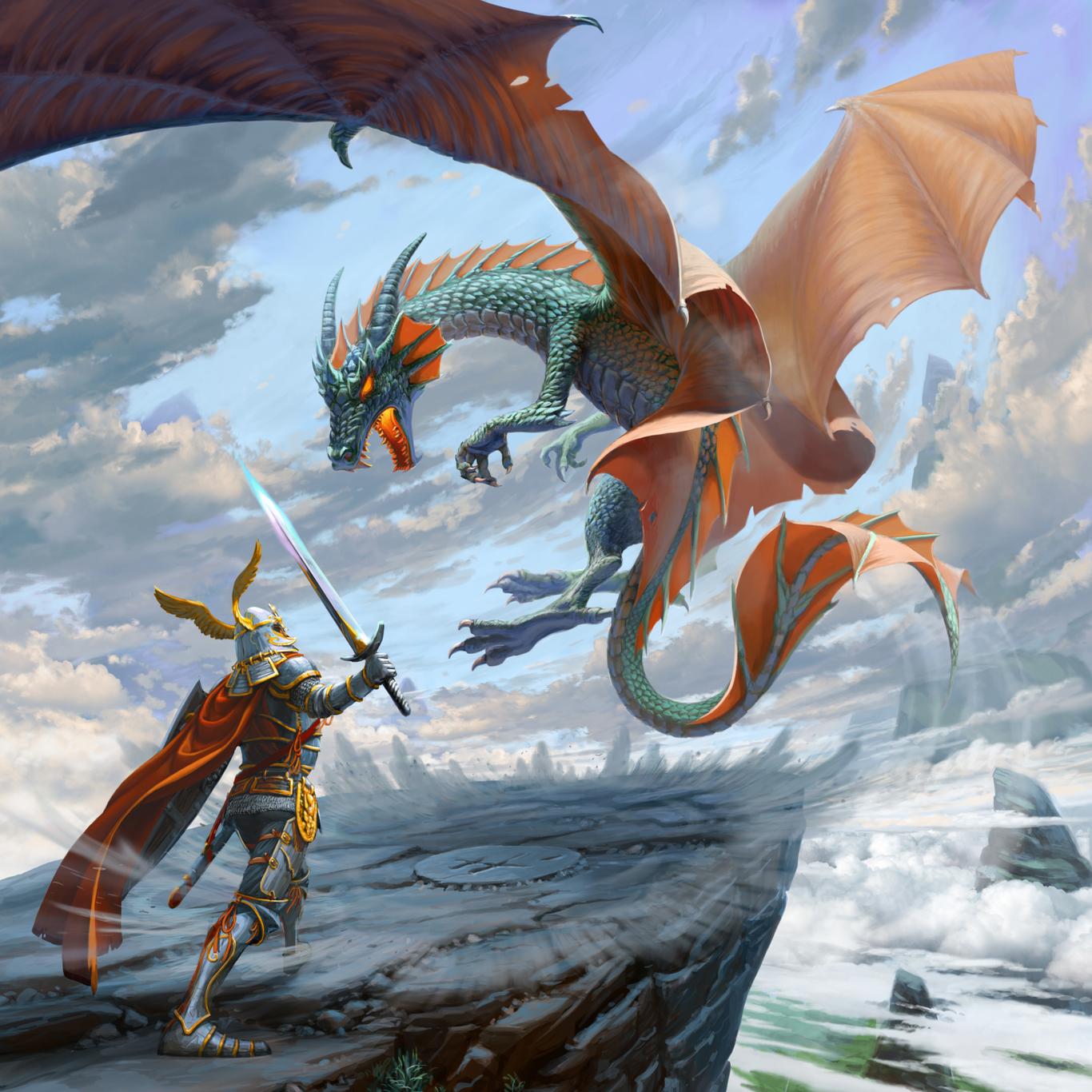 картинки нападающие драконы рыцари красивы, знамениты, посчастливилось