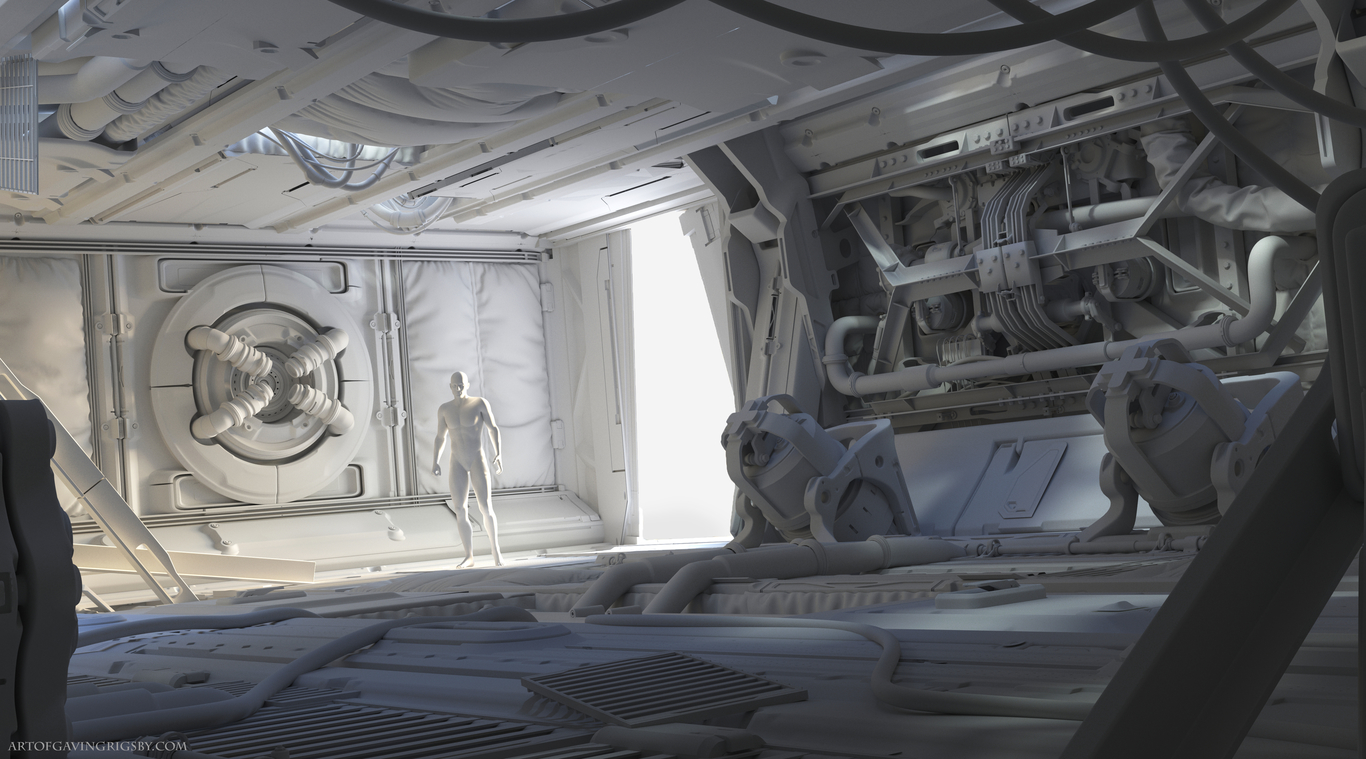 Scifi ENV- Project by GavinGrigsby | Sci-Fi | 3D | CGSociety