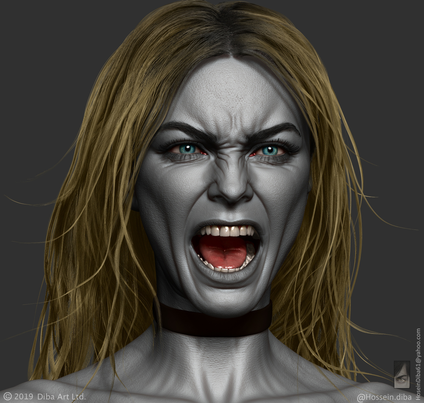 Free Tutorial _ Sculpting facial expressions in Zbrush, , HosseinDiba - CGSociety