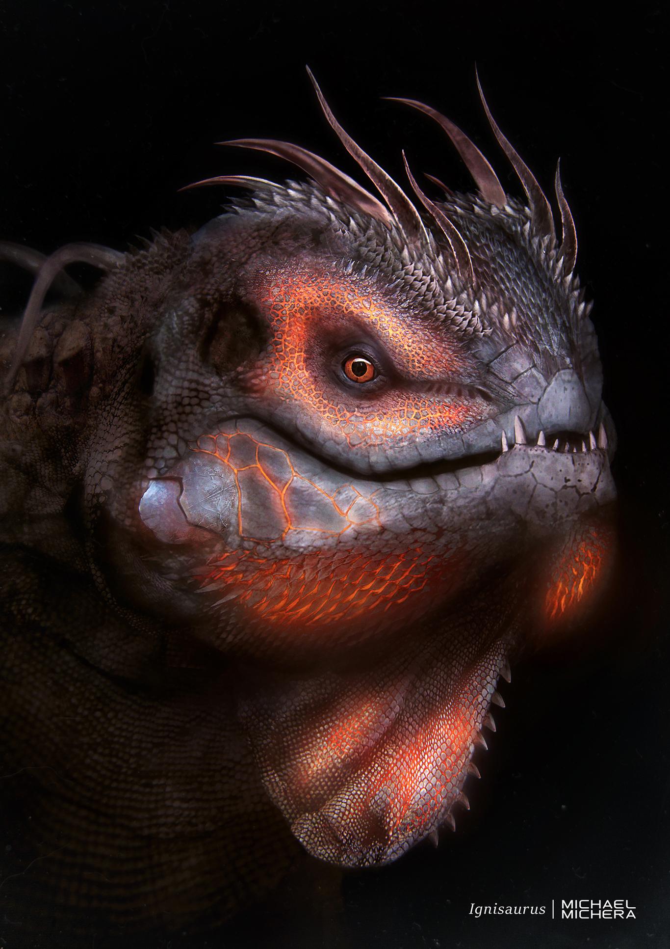 Ignisaurus (glowing)