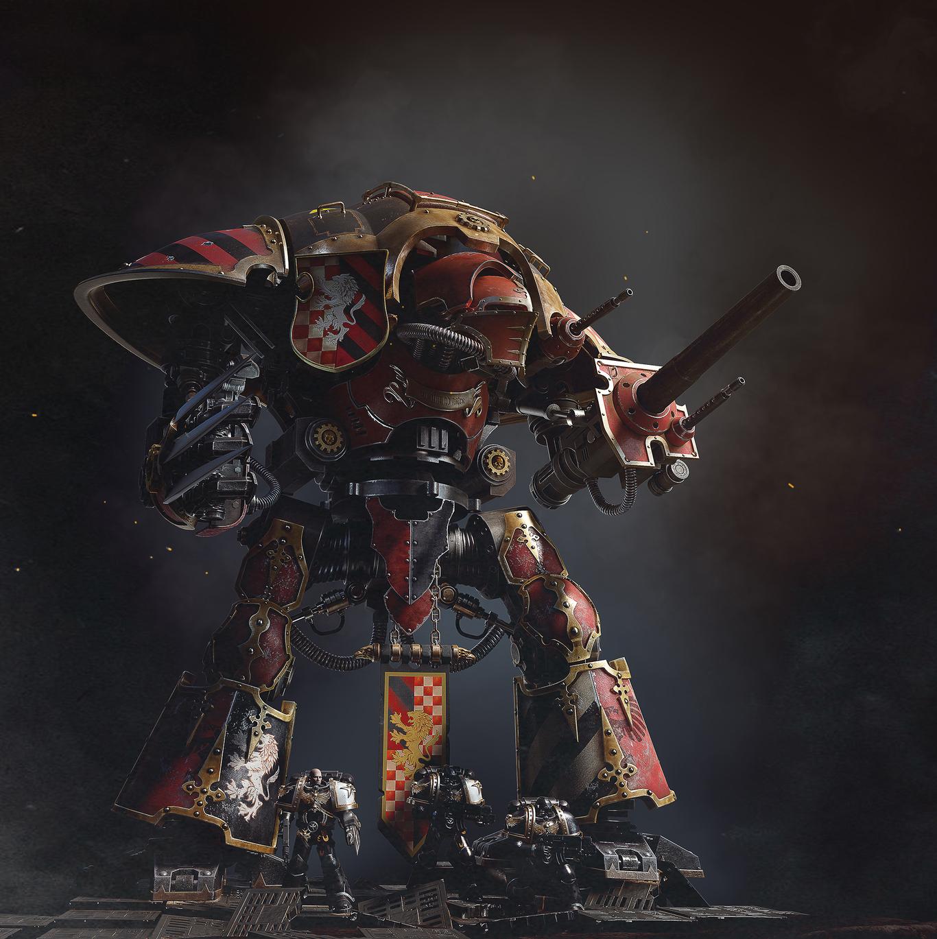 imperial knight Warhammer 40k fan art by Mironov81 | 3D ...