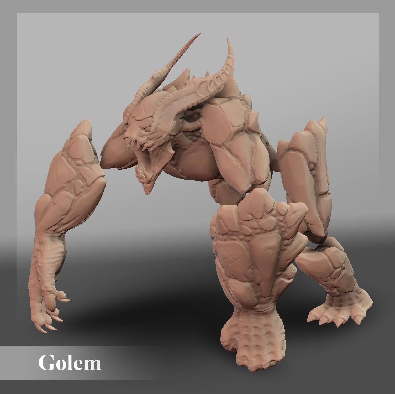Demon Rock Golem by MSobyak | Creatures | 3D | CGSociety