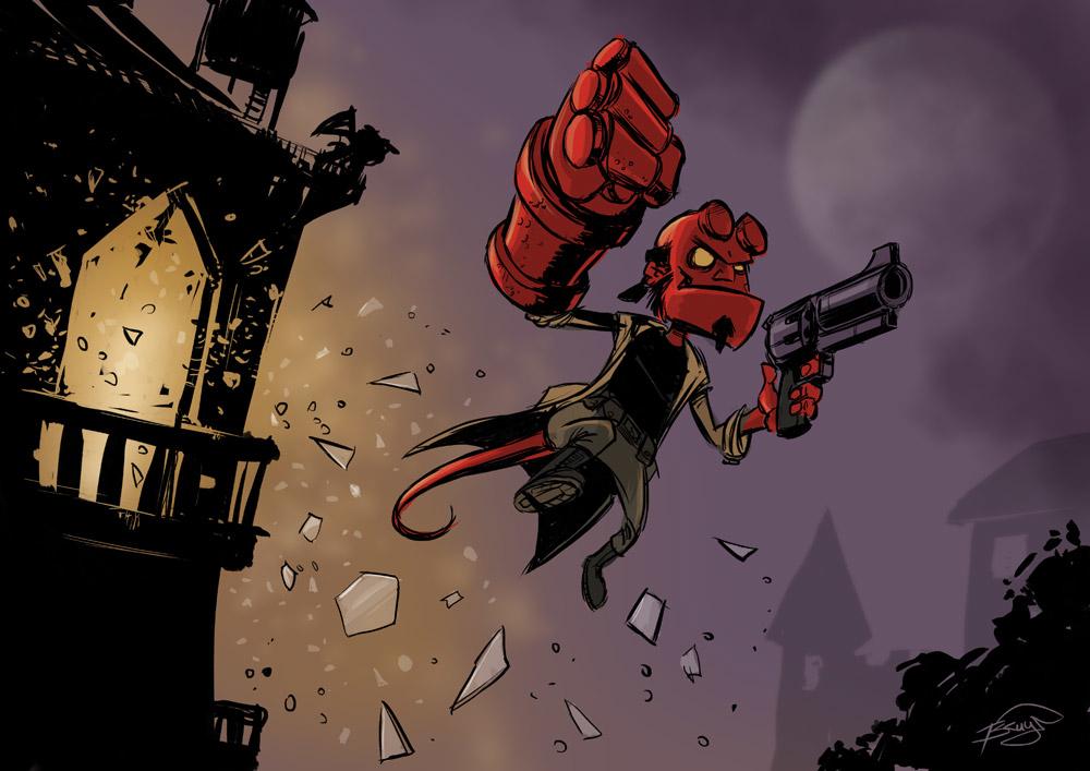 Redfrog daily sketch hellboy 1 489bd042 s1vl
