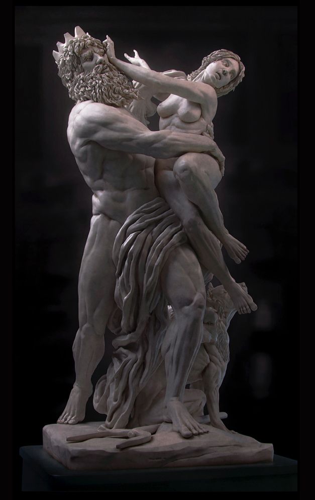 Bernini Sculpture - New materials and relight by sk3d   2D
