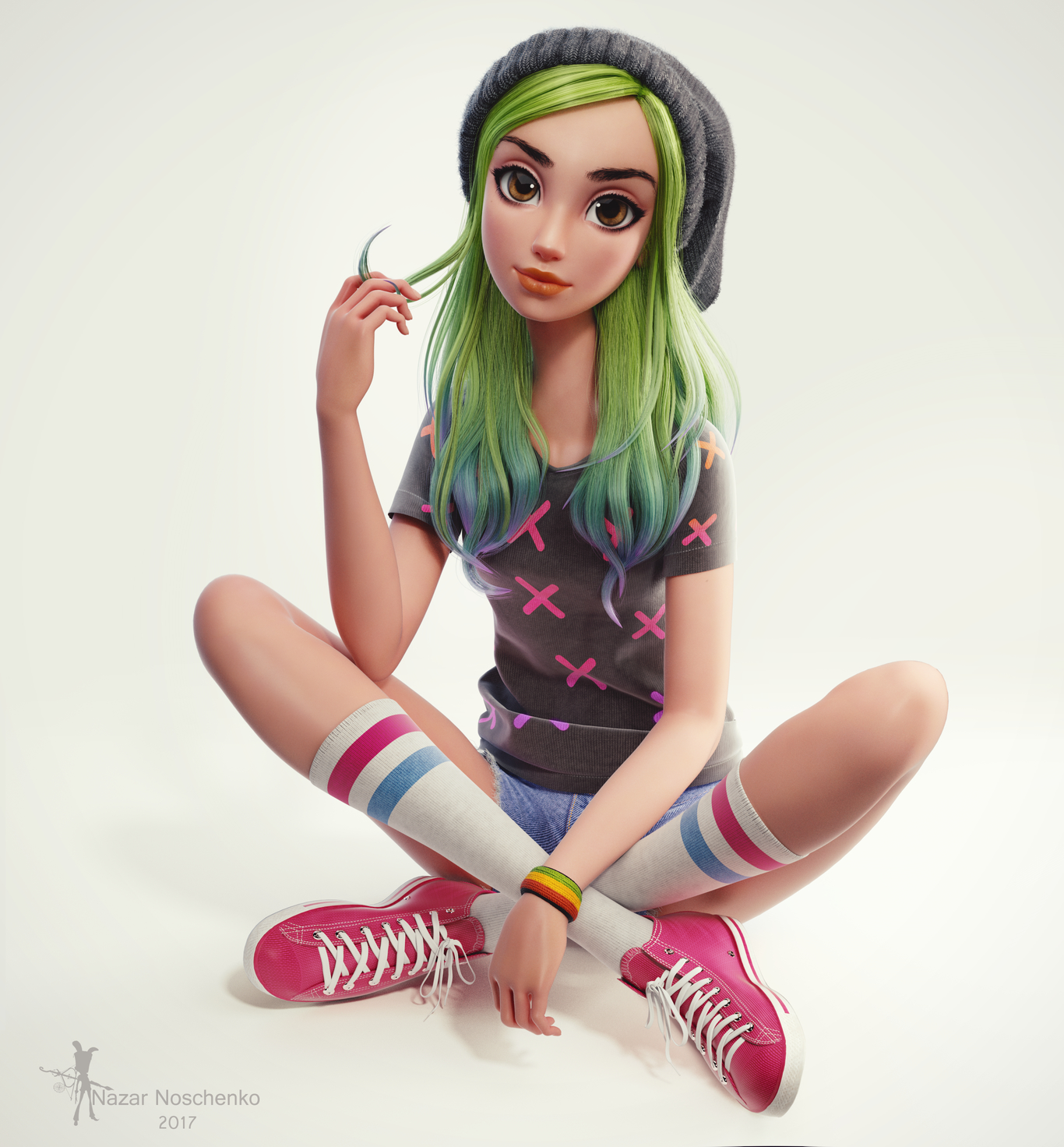 Tangens green hair girl 1 fc00179e ypno