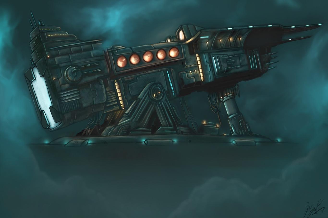 Concept Art Work Machine Battleship Ruihong Tang By Trhades