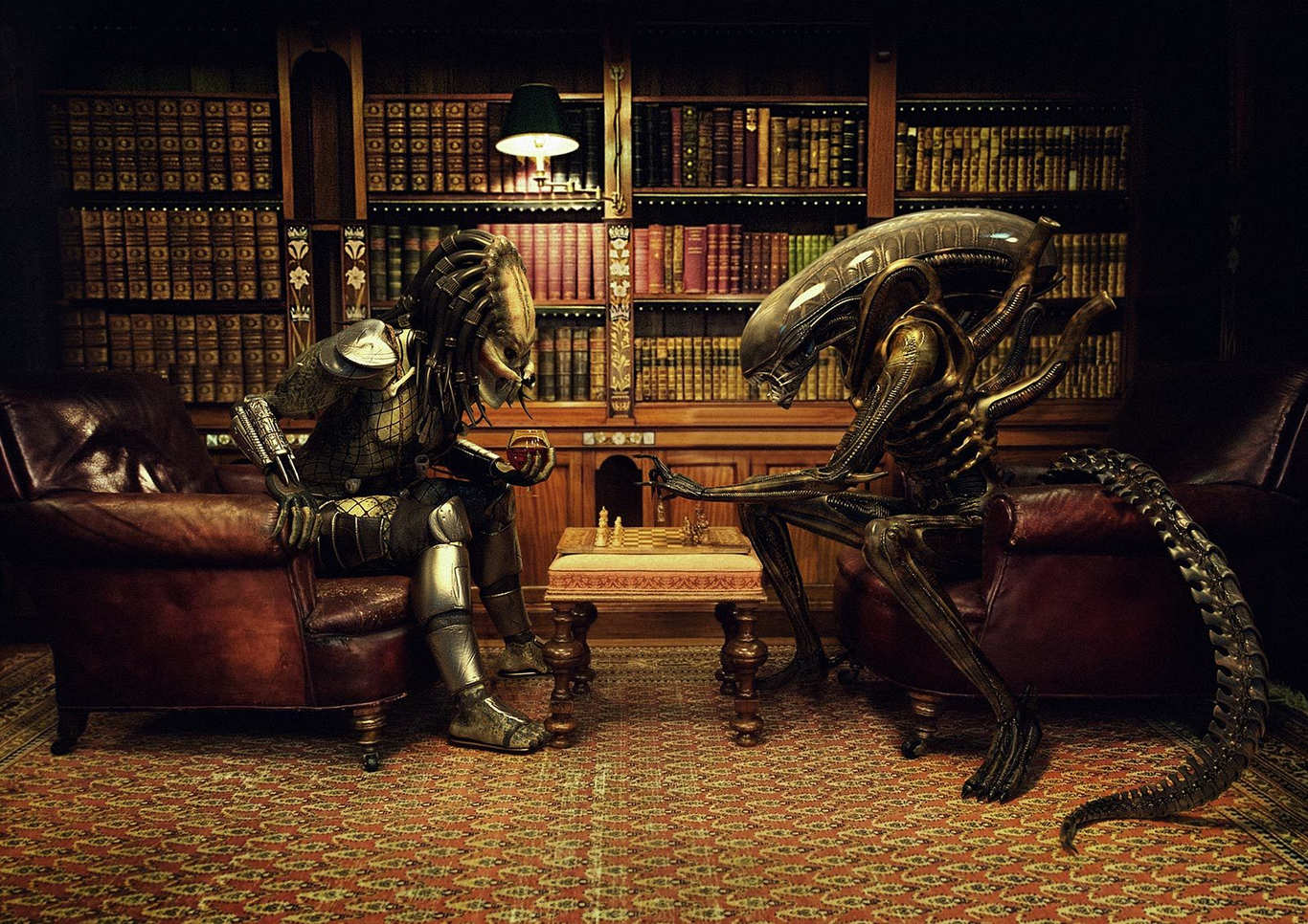 Alien Vs Predator Chess By Xidon 3d Cgsociety