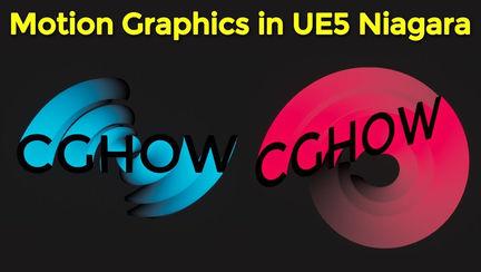 Motion Graphics in UE5 Niagara Tutorial   Download Files